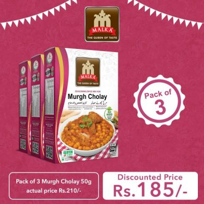 Pack of 3 Murgh Cholay Masala 50g