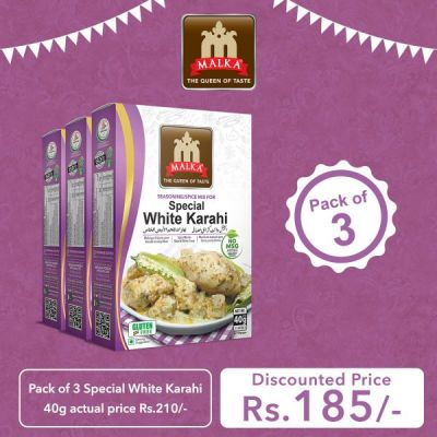 Pack of 3 Special White Karahi Masala 40g