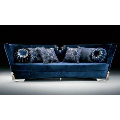 Blue Elegant Silver Sofa