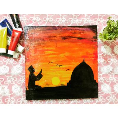 Prayer is the key of success Wall painting