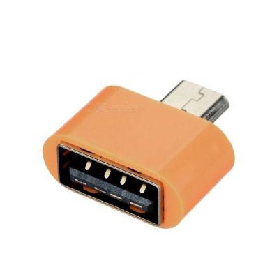 OTG+USB Adapter - USB To Phone - Android - Orange
