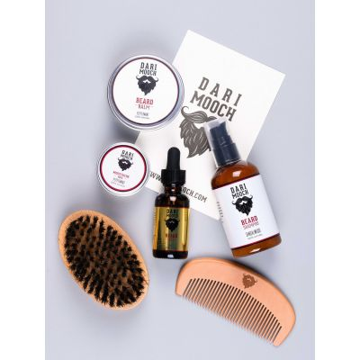 Complete Beard Grooming Kits: Gold