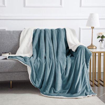 Ultra-Soft-Sherpa-Throw-Blanket-Teal