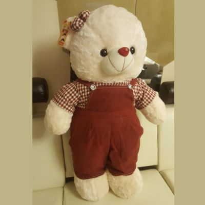 SOFT TEDDY BEAR 34 INCHES WITH COMPLETE SUIT
