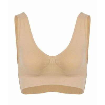 The-Ajmery Beige Cotton Air Bra For Women Beige