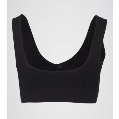 The-Ajmery Black Cotton Comfort Air Bra Black