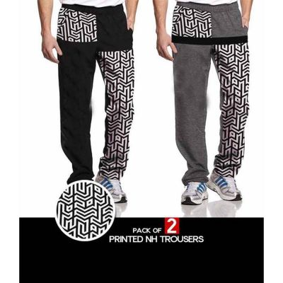 The-Ajmery Pack of 2 Printed NH Trouser For Men. SD-454 Multicolor