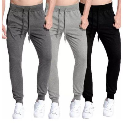The-Ajmery Pack Of 3 Gym Trousers For Men. SD-481 Multicolor