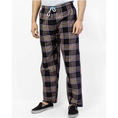 The-Ajmery Pack Of 4 Checkered Nightwear Trousers For Men. SD-350 - one-size