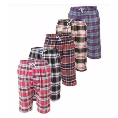 The-Ajmery Pack Of 5 Checkered Short For Men. SD-489 Multicolor