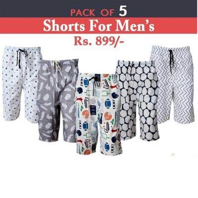 The-Ajmery Pack Of 5 Short For Men. SD-511 Multicolor