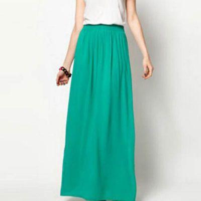The-Ajmery Women's Sea Green Elegant And Beautiful Skirt. E4H-SGS05 Multicolour