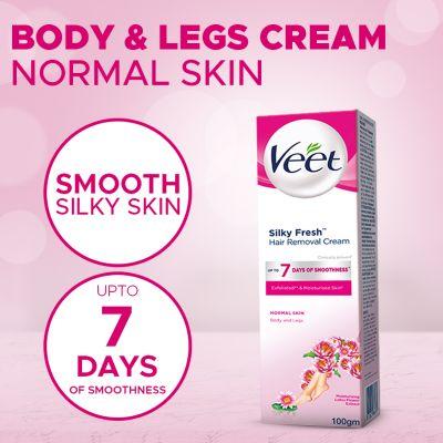 Veet Cream Silk Fresh 100 Gm Normal