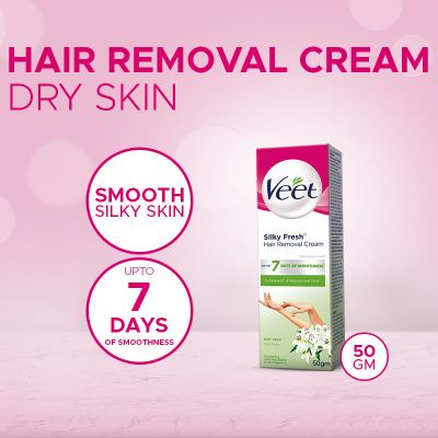 Veet Cream Silk Fresh 50 Gm Dry