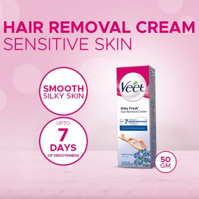 Veet Cream Silk Fresh 50 Gm Senstive