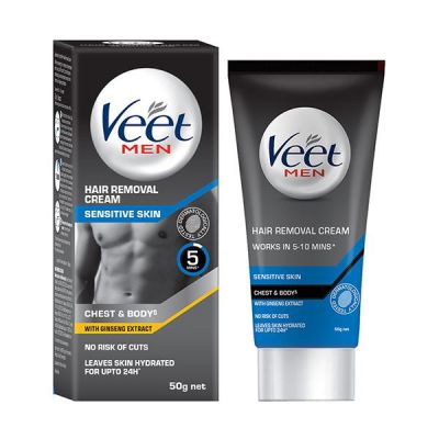 Veet Hair Removal Cream for Men  Sensitive Skin 50 gm