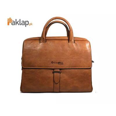 CoolBell L4 Leather Shoulder Laptop Bag 14 Brown