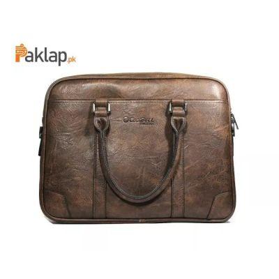 CoolBell L1 Leather Shoulder Laptop Bag 14-D-Brown